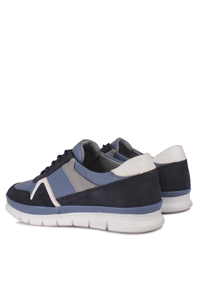 Fitbas 914352 438 Erkek Mavi Deri Büyük Numara Ayakkabı