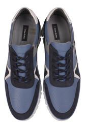 Fitbas 914352 438 Erkek Mavi Deri Büyük Numara Ayakkabı - Thumbnail
