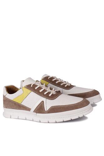 Fitbas - Fitbas 914352 468 Erkek Beyaz Deri Büyük Numara Ayakkabı (1)