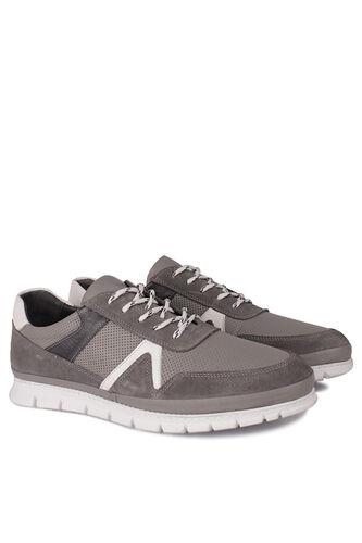 Fitbas - Fitbas 914352 515 Erkek Gri Deri Büyük Numara Ayakkabı (1)