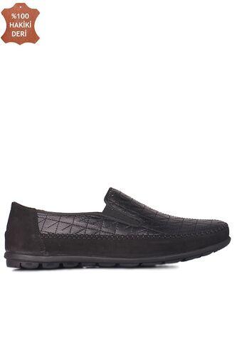 Fitbas 914356 015 Erkek Siyah Deri Büyük Numara Ayakkabı