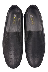Fitbas 914356 015 Erkek Siyah Deri Büyük Numara Ayakkabı - Thumbnail