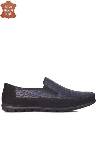 Fitbas 914356 415 Erkek Siyah Lacivert Deri Büyük Numara Ayakkabı