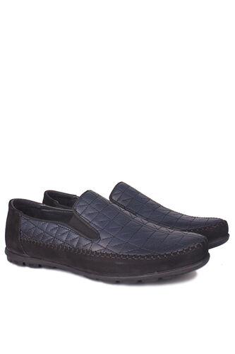 Fitbas - Fitbas 914356 415 Erkek Siyah Lacivert Deri Büyük Numara Ayakkabı (1)