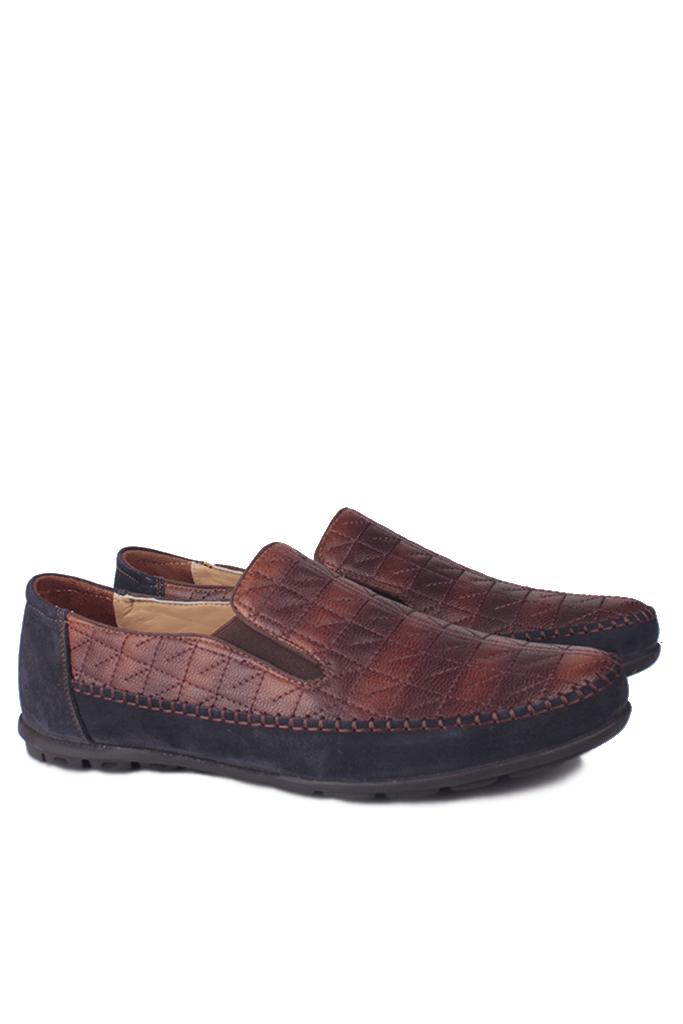Fitbas 914356 467 Erkek Lavicert Kahve Deri Büyük Numara Ayakkabı