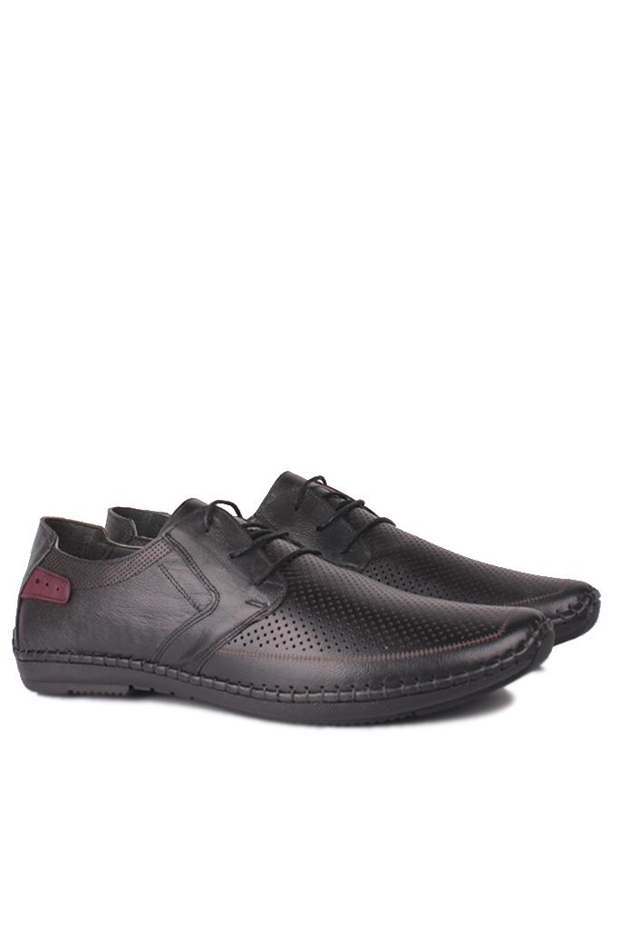 Fitbas 914376 014 Erkek Siyah Deri Büyük Numara Ayakkabı