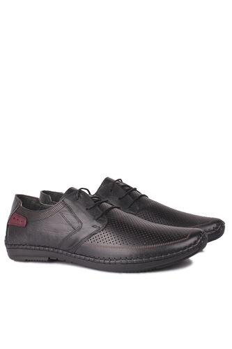 Fitbas - Fitbas 914376 014 Erkek Siyah Deri Büyük Numara Ayakkabı (1)
