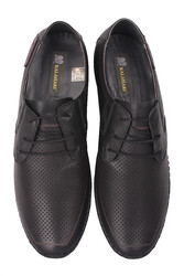 Fitbas 914376 014 Erkek Siyah Deri Büyük Numara Ayakkabı - Thumbnail
