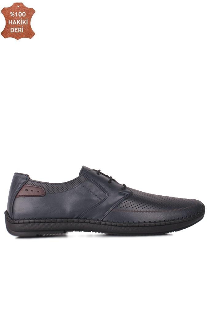 Fitbas 914376 424 Erkek Lacivert Deri Büyük Numara Ayakkabı