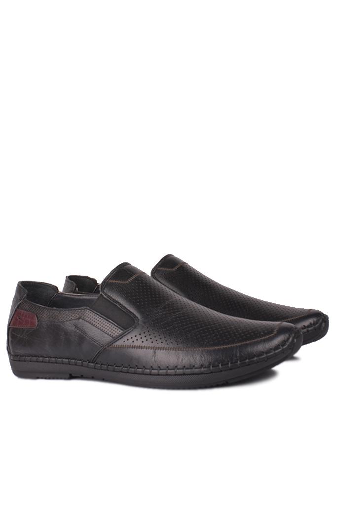 Fitbas 914377 014 Erkek Siyah Deri Büyük Numara Ayakkabı