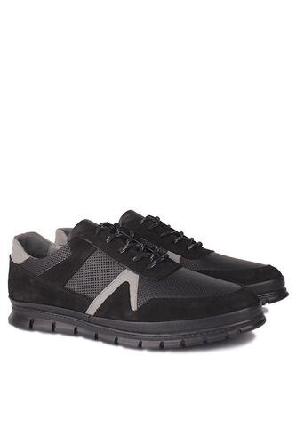 Fitbas - Fitbas 914382 015 Erkek Siyah Deri Büyük Numara Ayakkabı (1)