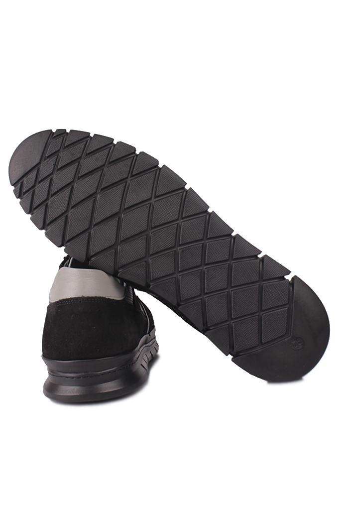 Fitbas 914382 015 Erkek Siyah Deri Büyük Numara Ayakkabı