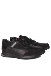 Fitbas 914383 015 Erkek Siyah Deri Büyük Numara Ayakkabı - Thumbnail