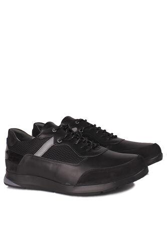 Fitbas - Fitbas 914383 015 Erkek Siyah Deri Büyük Numara Ayakkabı (1)