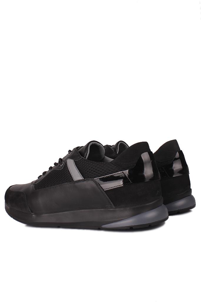 Fitbas 914383 015 Erkek Siyah Deri Büyük Numara Ayakkabı