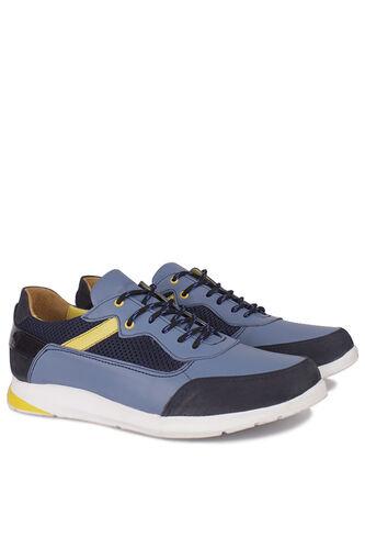 Fitbas - Fitbas 914383 438 Erkek Mavi Deri Büyük Numara Ayakkabı (1)