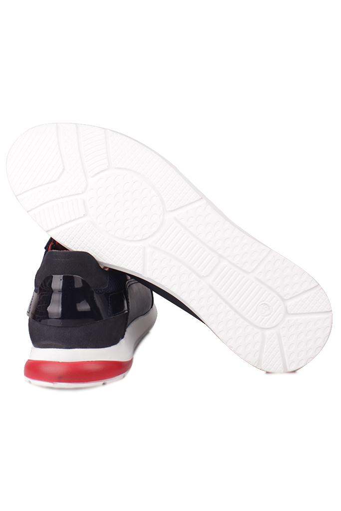 Fitbas 914383 459 Erkek Lacivert Deri Büyük Numara Ayakkabı