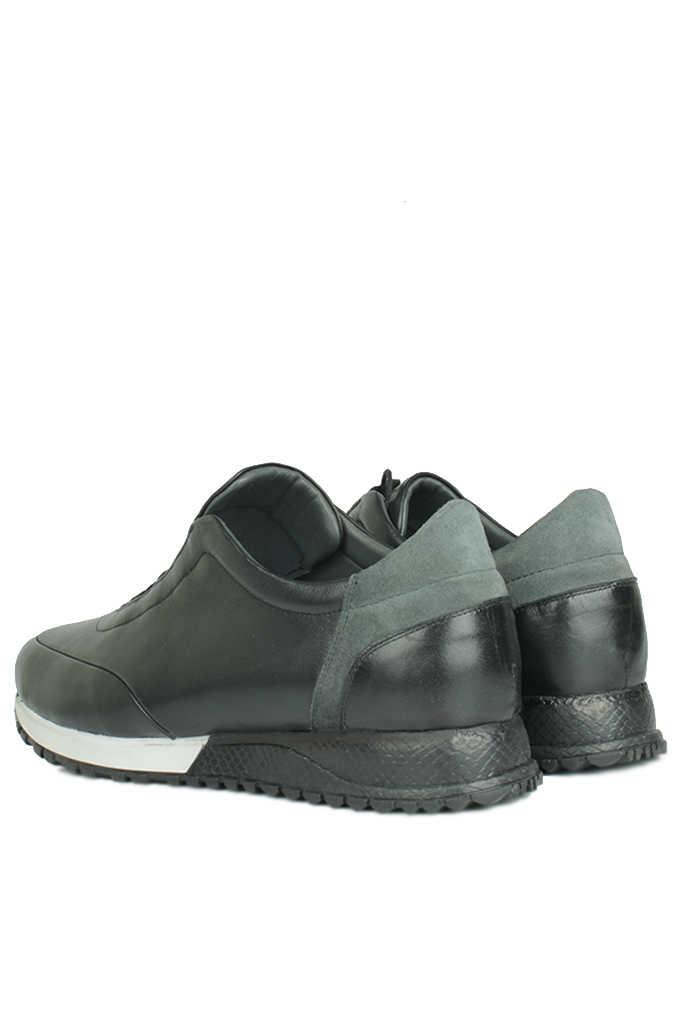 Fitbas 914510 014 Erkek Siyah Deri Spor Büyük Numara Ayakkabı