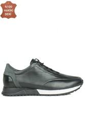Fitbas 914510 014 Erkek Siyah Deri Spor Büyük Numara Ayakkabı - Thumbnail