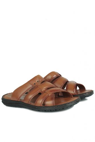 Fitbas - Kalahari 850179 167 Men Taba Khakiki Genuine Leather Sandal (1)