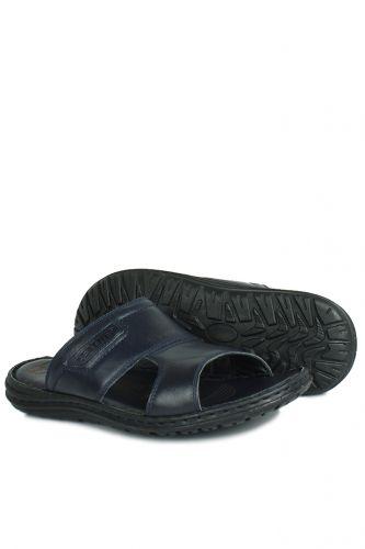 Fitbas - Kalahari 850182 424 Men Navy Blue Khakiki Genuine Leather Sandal (1)