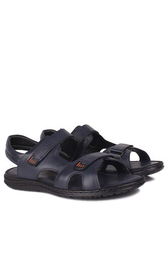 Fitbas - Kalahari 850186 424 Men Navy Blue Khakiki Genuine Leather Sandal (1)