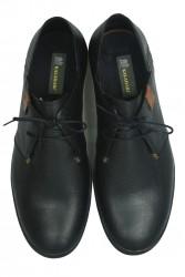Fitbas 850984 013 Erkek Siyah Deri Büyük Numara Ayakkabı - Thumbnail
