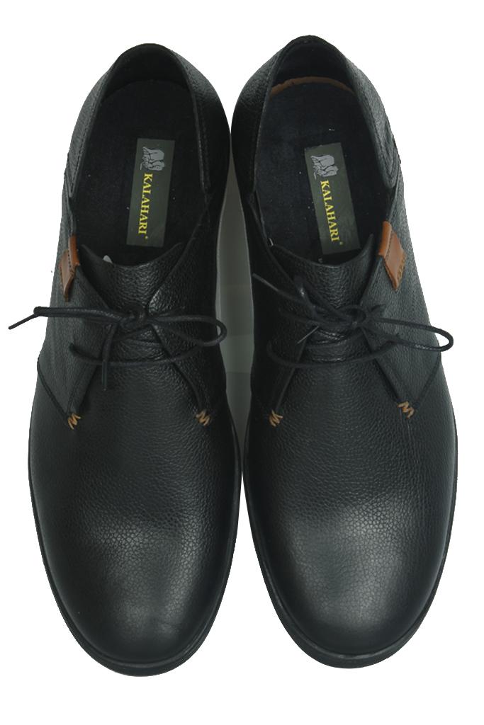Kalahari 850984 013 Erkek Siyah Deri Büyük Numara Ayakkabı