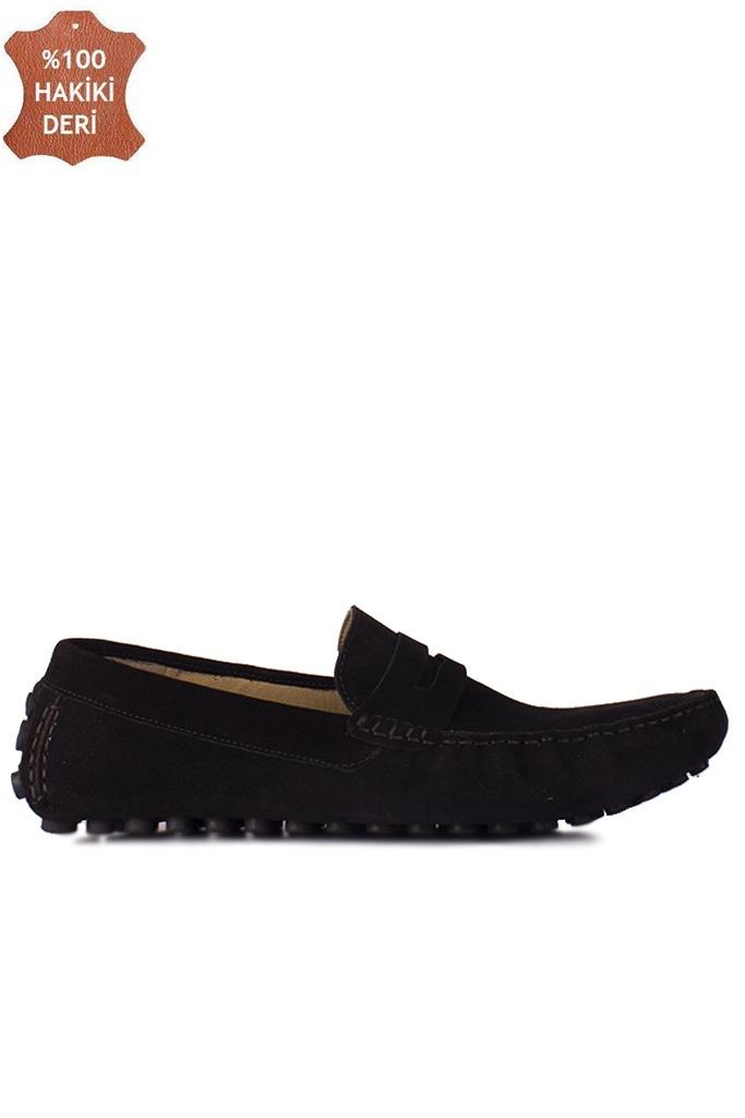 Fitbas 852221 008 Erkek Siyah Süet Büyük Numara Loafer