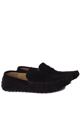 Kalahari - Kalahari 852221 008 Erkek Siyah Süet Büyük Numara Loafer (1)