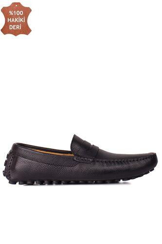Fitbas 852221 014 Erkek Siyah Deri Büyük Numara Loafer