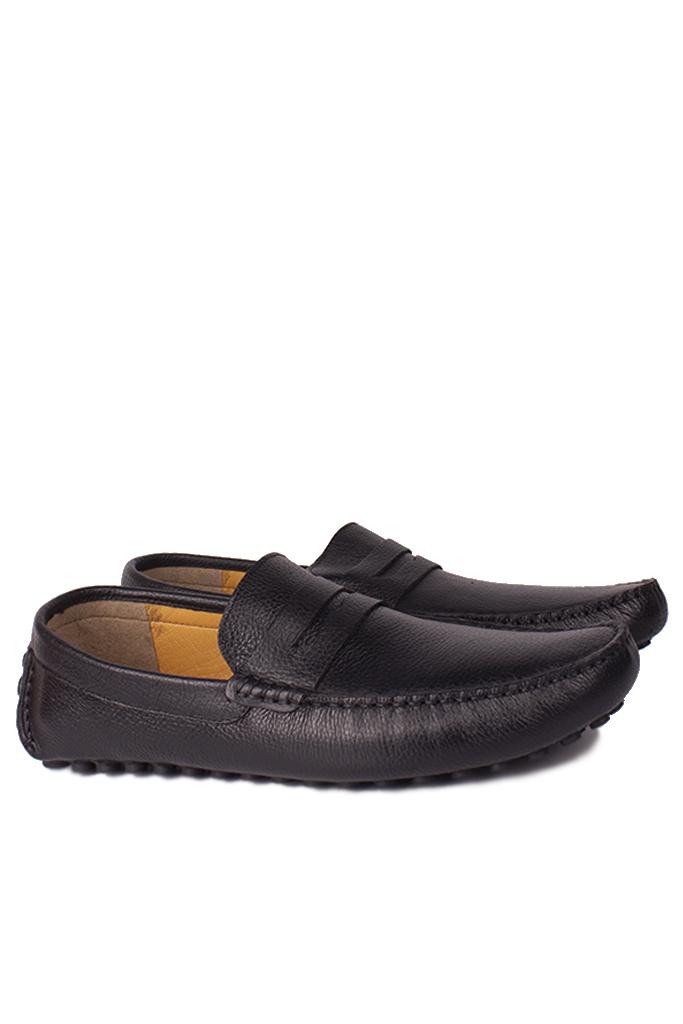 Kalahari 852221 014 Erkek Siyah Deri Büyük Numara Loafer