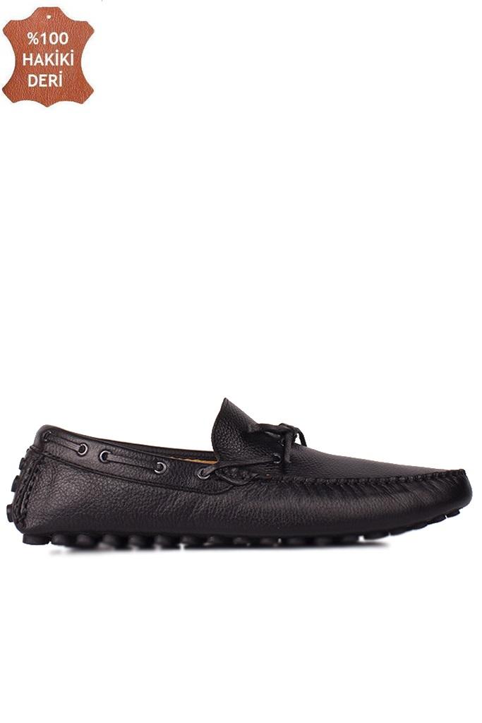 Fitbas 852223 014 Erkek Siyah Deri Büyük Numara Loafer