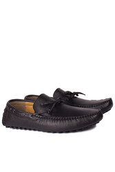 Kalahari 852223 014 Erkek Siyah Deri Büyük Numara Loafer - Thumbnail