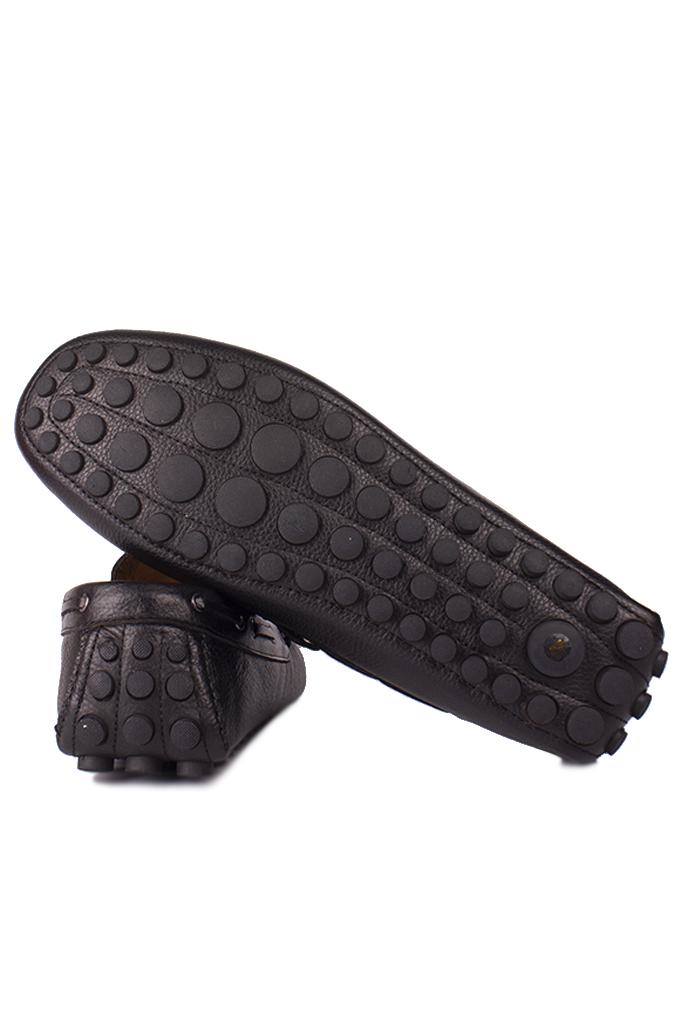 Kalahari 852223 014 Erkek Siyah Deri Büyük Numara Loafer