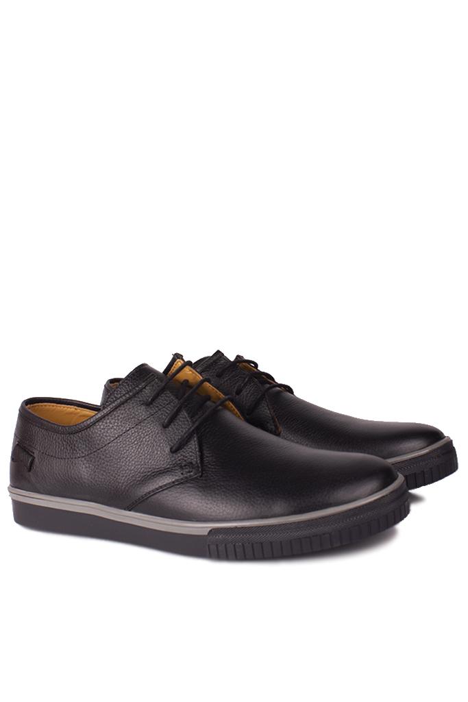 Kalahari 852702 013 Erkek Siyah Deri Büyük Numara Ayakkabı