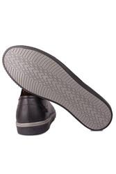 Kalahari 852702 013 Erkek Siyah Deri Büyük Numara Ayakkabı - Thumbnail