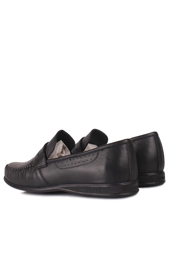 Kalahari 914375 014 Erkek Siyah Deri Büyük Numara Ayakkabı