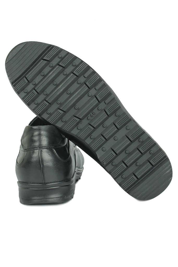 Fitbas 914400 014 Erkek Siyah Deri Kışlık Büyük Numara Ayakkabı