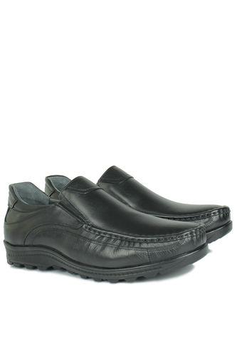 Kalahari - Kalahari 914400 014 Erkek Siyah Deri Kışlık Büyük Numara Ayakkabı (1)