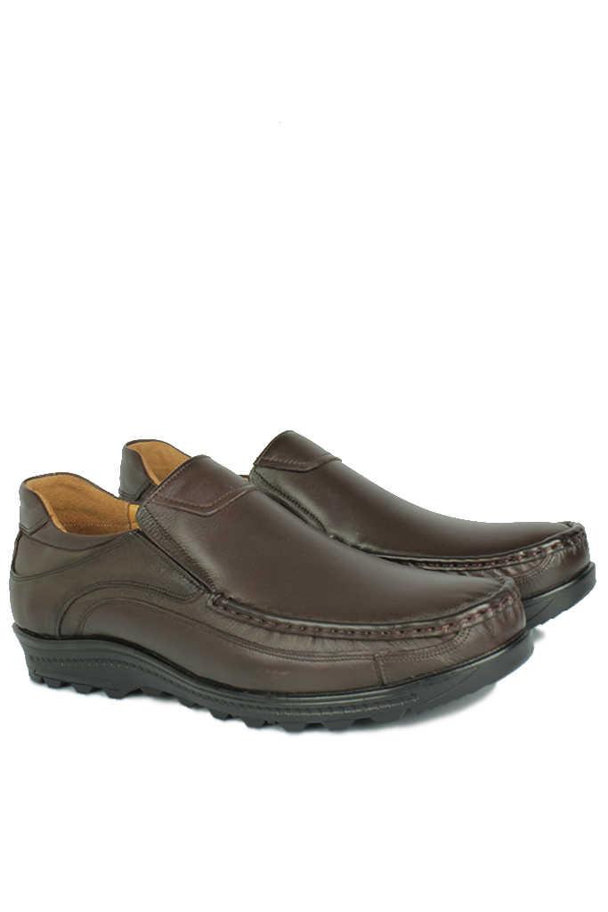 Kalahari 914400 314 Erkek Kahve Deri Kışlık Büyük Numara Ayakkabı