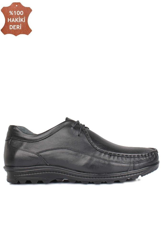 Fitbas 914401 014 Erkek Siyah Deri Kışlık Büyük Numara Ayakkabı