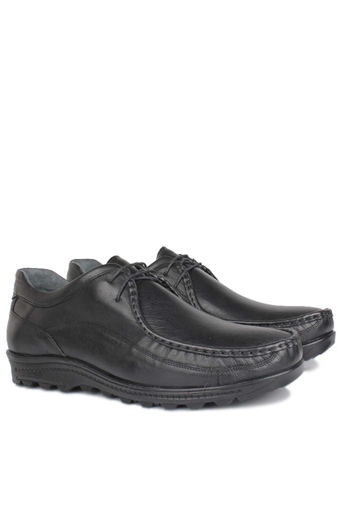 Kalahari 914401 014 Erkek Siyah Deri Kışlık Ayakkabı