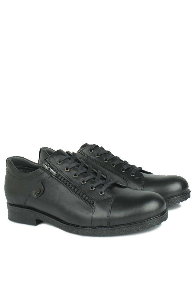 Fitbas 914402 014 Erkek Siyah Deri Kışlık Büyük Numara Ayakkabı
