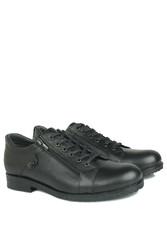 Fitbas 914402 014 Erkek Siyah Deri Kışlık Büyük Numara Ayakkabı - Thumbnail