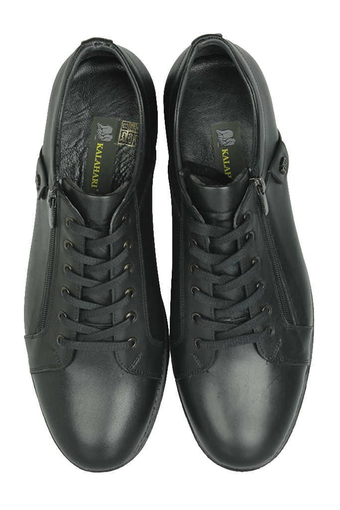 Kalahari 914402 014 Erkek Siyah Deri Kışlık Büyük Numara Ayakkabı