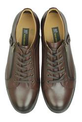 Fitbas 914402 317 Erkek Kahve Deri Kışlık Büyük Numara Ayakkabı - Thumbnail