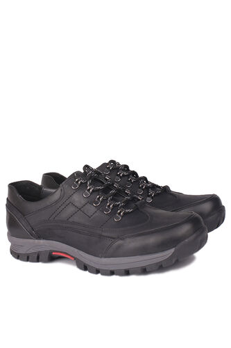 Fitbas - Fitbas 914403 014 Erkek Siyah Deri Kışlık Büyük Numara Ayakkabı (1)