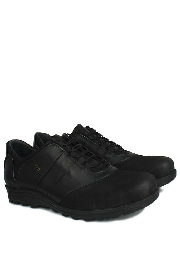 Fitbas 914405 014 Erkek Siyah Deri Kışlık Büyük Numara Ayakkabı