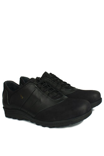 Kalahari - Kalahari 914405 014 Erkek Siyah Deri Kışlık Büyük Numara Ayakkabı (1)